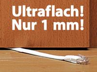 fibrionic netzwerk kabel cat5e flach wei 20m. Black Bedroom Furniture Sets. Home Design Ideas