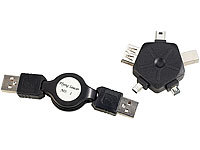 Fibrionic Network Solutions 5in1 USB-Adapter inklusive USB-Kabeltrommel (80 cm)