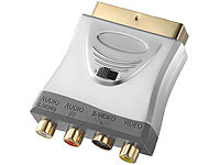Fibrionic Network Solutions Premium-Adapter SCART auf AV-Cinch / S-Video, umschaltbar